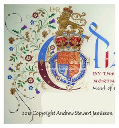 Coats of Arms, Heraldry, Heraldic Art & Illuminated Manuscripts painted by English Artist Andrew Stewart Jamieson. Good Knight, English Artists, Circlet, Calligraphy Letters, Illuminated Manuscript, Coat Of Arms, Book Art, Symbols, Libros