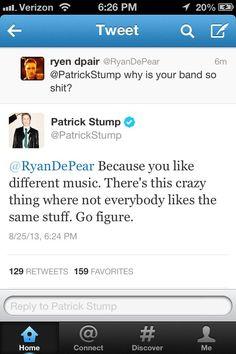Patrick stump is a legend