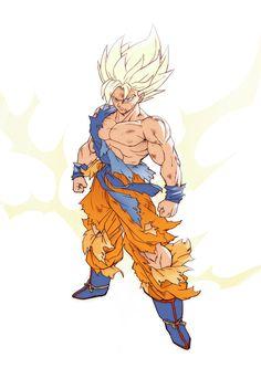 Dragon Ball Gt, Dragon Ball Image, Dragonball Evolution, Son Goku, Character Design Animation, Character Art, Super Anime, Ball Drawing, Illustrations