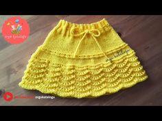 #44 Dalgalı Bebek Etek Modeli - Örgü Modelleri / Knit Baby Skirt - YouTube Knitting Blogs, Baby Knitting, Knit Skirt, Knit Dress, Little Girl Skirts, Skirt Pattern Free, Baby Skirt, Crochet Girls, Baby Vest