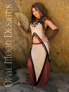 Henna and GoldDust Tribal Coins Hood & by OpalMoonDesigns