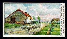 "https://flic.kr/p/82Pwi7 | Tradecard - La Belle Alliance, Battle of Waterloo | Fry's, ""Days of Wellington"" 1906. No14 The Chateau ""La Belle Alliance"", Napoleon's headquarters during the Battle of Waterloo."
