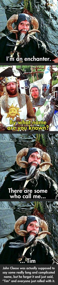 Laugh at the best Monty Python And The Holy Grail quotes. Quotes from the movie Monty Python And The Holy Grail. 2 King Arthur: Now stand aside, worthy adversary. Monty Python, Funny Quotes, Funny Memes, Hilarious, Haha, My Sun And Stars, Just For Laughs, Laugh Out Loud, The Funny