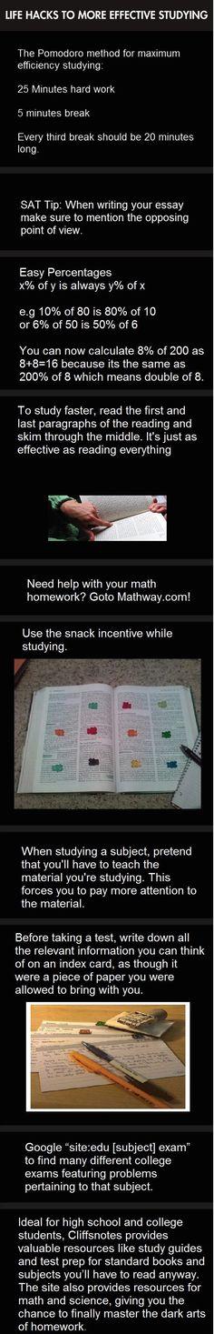 Hacks To Effective Studying