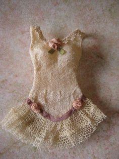 Dollhouse miniature Victorian lingerie corset dress nightgown antique silk 1:12   eBay