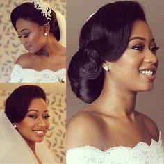 Wow!  Gabby is such a beautiful Nigerian & Mauritian Bride | Hair: @papachichistyle & Makeup: @breelliantmua  #BellaNaijaWeddings