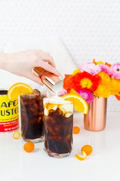 This Orange Spiced Iced Coffee is the perfect way to cool off this summer!