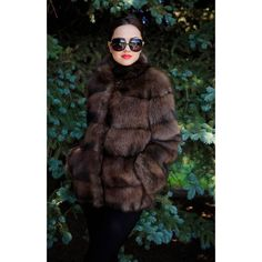 Fur Coat (€790) ❤ liked on Polyvore featuring outerwear, coats, black, women's clothing, oversized coat, short coat, black fur coat, long sleeve coat and black coat