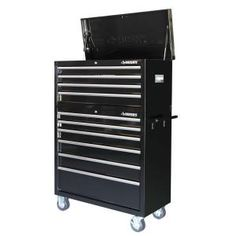 Husky 40 in.10-Drawer Black Tool Chest and Cabinet Set-HOTC4010B1ARS at The Home Depot