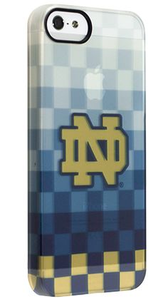 """""""Notre Dame Pixel Stripe"""" by Uncommon for the iPhone 5 Permafrost™ UN Deflector"""