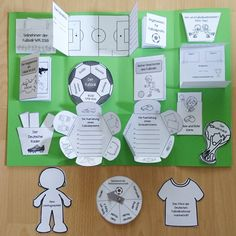 "Ideenreise: Lapbookvorlagen ""Alles über Fußball"" - Todo O Que Debes Saber Sobre Kindergarten Interactive Learning, Interactive Notebooks, Elementary Science, Teaching Science, Lap Book Templates, Paper Folding Crafts, Kids Party Themes, Little Books, Book Making"