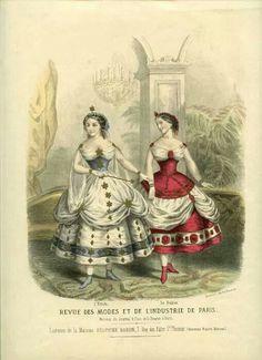 Ballet costumes 1862.