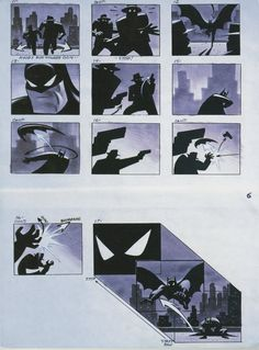 Batman Animated Series Opening Sequence Storyboard