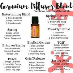 Geranium Diffuser Blends! www.mydoterra.com/goodmanamber