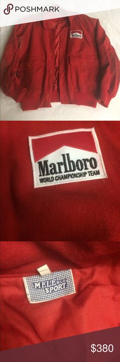 Vintage Marlboro Race Car Jacket One of a kind Marlboro Race Car Jacket. Mele & co Sport. Marlboro World Championship Team. EXCELLENT condition ❤️ Mele & co Sport Jackets & Coats
