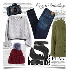 """""""Its cold outside"""" by mayofmyheart on Polyvore featuring мода, Envi, American Eagle Outfitters, H&M, Topshop, Steve Madden, Eos и Eugenia Kim"""