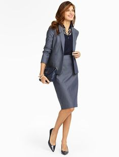 Women's Clothing & Apparel - business professional outfits offices Business Professional Attire, Professional Wardrobe, Business Outfits, Office Outfits, Business Casual, Business Wear, Classic Style Women, Classic Outfits, Office Fashion