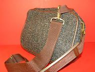 Jagaur Tweed Cosmetic Overnight Travel Bag by  J.CPenny~Brown