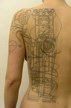 Charles Rennie Mackintosh tattoo. Scots, but not the normal thistle/knotwork!