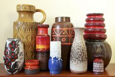 'Fat Lava' West German Pottery group by afterglowretro, via Flickr