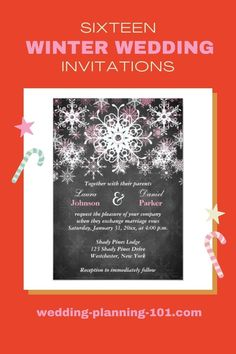 Get ideas and see photos of winter wedding invitations! #WinterWeddingInvitations #WinterWeddings #WinterWeddingIdeas #WinterWeddingStationery #SnowflakeWeddingInvitations