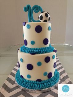 Buttercream birthday cake perfect for a soccer star!
