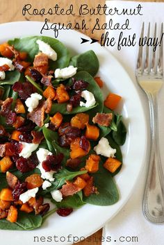My favorite salad Roasted Butternut Squash Salad. The fast & most delicious way! - Nest of Posies