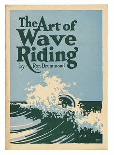 "Description: (SURFING.) Drummond, Ron. The Art of Wave Riding. Frontispiece portrait of the author, 12 illustrations in text. [5], 26 pages. 4to, two-color illustrated publisher's wrappers, minimal foxing; internally clean. [Hollywood, CA: Cloister Press, 1931] Notes: Generally regarded as the first book devoted to surfing. This instructional pamphlet on bodysurfing was written to address ""the pitiful sight of thousands of swimmers, young and old, men and women, always trying and never…"