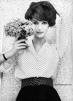 Spotty blouse, 1959 - retro spotty!