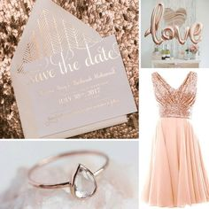 Love rose gold? Me too. That's why this month's color palette idea is totally my new favorite!