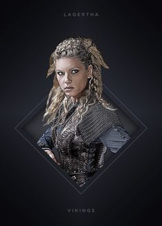 "Vikings Characters Lagertha #Displate artwork by artist ""Mequem Design"". Part of a 7-piece set featuring artwork based on characters from the popular Vikings TV series. £35 / $46 per poster (Regular size) #Vikings #Ragnar #RagnarLothbrok #Lagertha #Bjorn #Rollo #Floki #Athelstan #Aslaug"