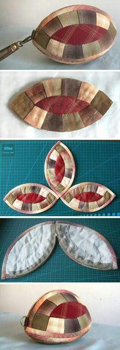 New patchwork necessaire tutorials 37 Ideas Bag Quilt, Patchwork Quilt, Patchwork Bags, Quilted Bag, Diy Bags Purses, Coin Purses, Fabric Bags, Fabric Basket, Small Handbags