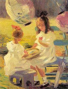 Susan Ricker Knox (1874 – 1959).  Japanese Tea Party