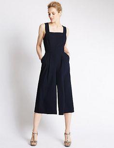 Strap Culotte Jumpsuit Clothing