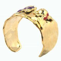 De Buman 14k Goldplated Fishes Enamel Cuff Bracelet De Buman. $124.99