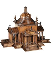A Wooden Architectural Model of The Temple of Winds at Castle Howard.