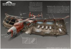 Rescue team aircraft hospital concept by martydesign on DeviantArt Post Apocalyptic Art, Gato Anime, Zombie Apocalypse Survival, Sci Fi Spaceships, Underground Bunker, 3d Modelle, Concept Ships, Survival Shelter, Weapon Concept Art