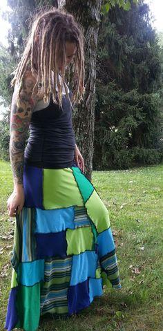 Patchwork Skirt Hippie Skirt Gypsy Skirt Hippie by GypsySewL, $75.00