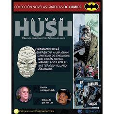 Batman: Silencio edición Colección Novelas Gráficas de DC Comics ✒💬 #designandcomics  #batman #hush #silencio #dccomics #catwoman #robin #joker #harleyquinn #clayface #riddler #nightwing #superman #oracle #twoface #poisonivy #rasalghul #killercroc #scarecrow #hauntress #comic #comicporn #infographic #eaglemoss #ecc #salvat