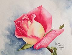 Scent of the Rose 1B by Lynne Hurd Bryant Watercolor ~ 6 x 8