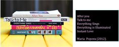 Alison Gibbons: Book Spine Poetry