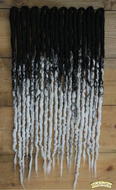 Black to white transitional crocheted synthetic dreads by Black Sunshine