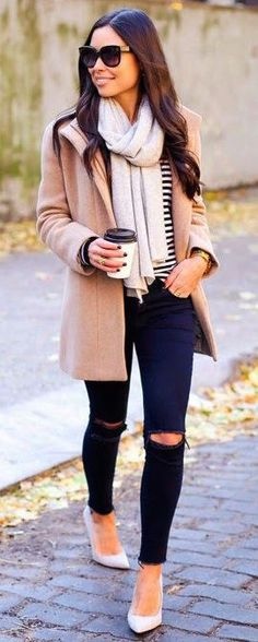 fall fashion stripes layers