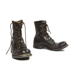 1966 Vintage Combat Boots by Endicott Johnson Vietnam Era Military Boots Men's Shoes, Shoe Boots, Black Combat Boots, Shoe Company, Vintage Boots, Pretty Lingerie, Nike, Footwear, Mens Fashion