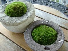 We would love this kind of planter, only in rectangles for the fireplace mantle-filled with mosses and succulents.