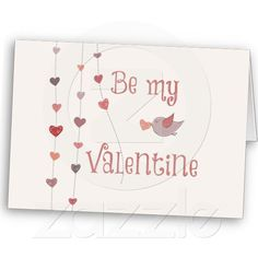 Bird with Heart Vines Valentines cards