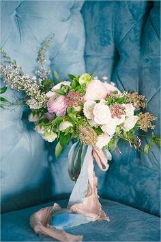 wedding bouquet with pink and green @weddingchicks