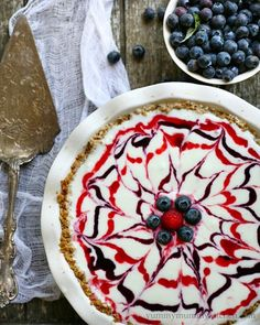 Red, white, and blue ice cream pie: http://www.stylemepretty.com/living/2014/07/01/15-recipes-for-the-4th-of-july/