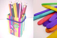 Gem ispindene og saml nok til en fin blyantsholder Art Supplies, Office Supplies, Halloween, Kids, Design, Young Children, Boys, Children