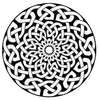 round Celtic knotwork